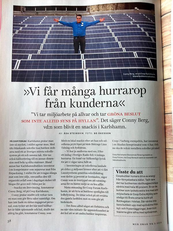 Coop med solceller