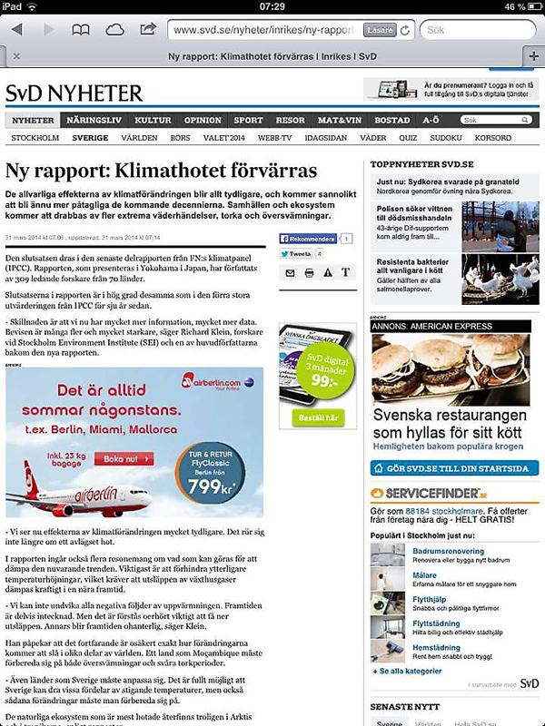 SVD Klimatrapport 2014-03-31