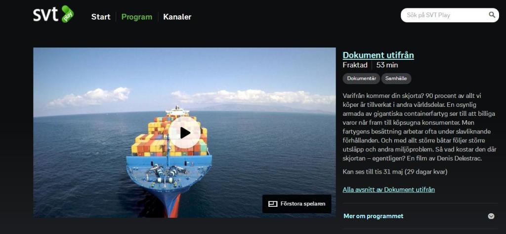 Vignette SVT Play Fraktad